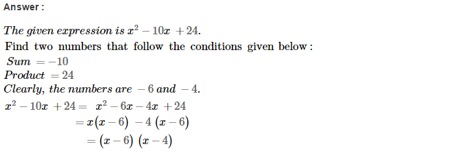 Factorisation RS Aggarwal Class 8 Maths Solutions Ex 7D 10.1