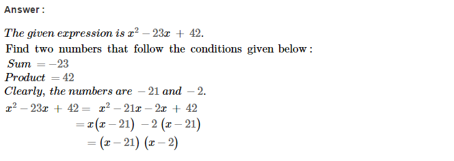 Factorisation RS Aggarwal Class 8 Maths Solutions Ex 7D 11.1
