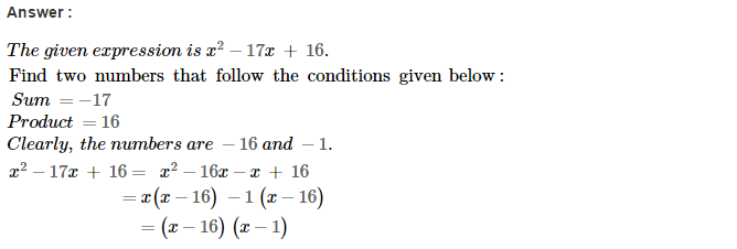 Factorisation RS Aggarwal Class 8 Maths Solutions Ex 7D 12.1
