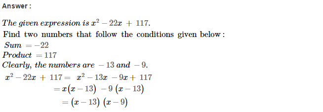 Factorisation RS Aggarwal Class 8 Maths Solutions Ex 7D 14.1