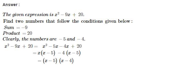 Factorisation RS Aggarwal Class 8 Maths Solutions Ex 7D 15.1