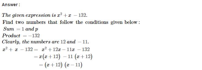 Factorisation RS Aggarwal Class 8 Maths Solutions Ex 7D 16.1