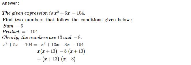 Factorisation RS Aggarwal Class 8 Maths Solutions Ex 7D 17.1