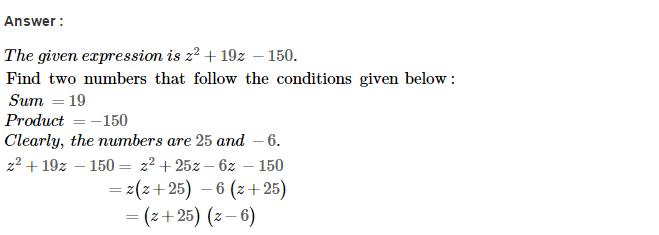 Factorisation RS Aggarwal Class 8 Maths Solutions Ex 7D 19.1