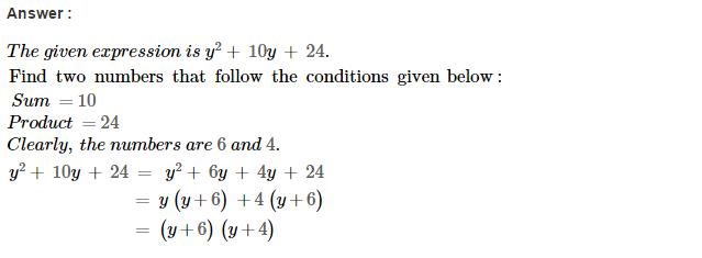 Factorisation RS Aggarwal Class 8 Maths Solutions Ex 7D 2.1
