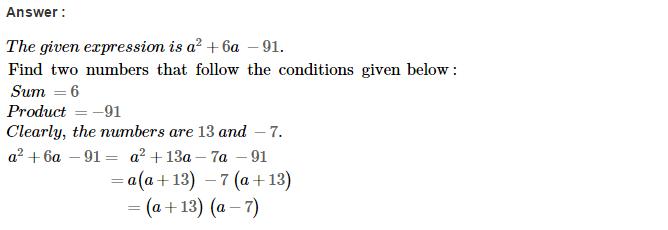 Factorisation RS Aggarwal Class 8 Maths Solutions Ex 7D 21.1