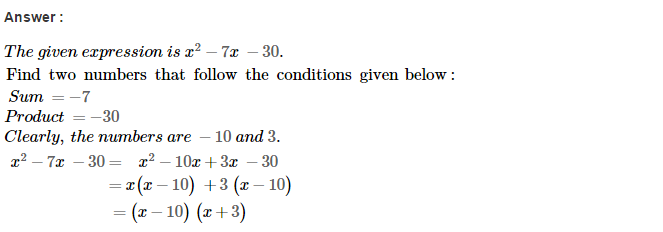 Factorisation RS Aggarwal Class 8 Maths Solutions Ex 7D 23.1