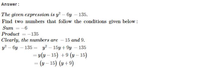 Factorisation RS Aggarwal Class 8 Maths Solutions Ex 7D 26.1