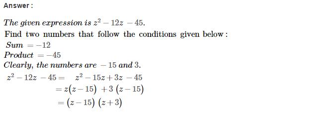 Factorisation RS Aggarwal Class 8 Maths Solutions Ex 7D 27.1