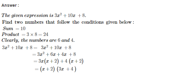 Factorisation RS Aggarwal Class 8 Maths Solutions Ex 7D 29.1