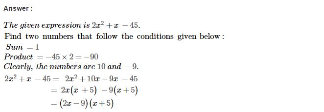 Factorisation RS Aggarwal Class 8 Maths Solutions Ex 7D 32.1