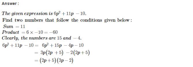 Factorisation RS Aggarwal Class 8 Maths Solutions Ex 7D 33.1