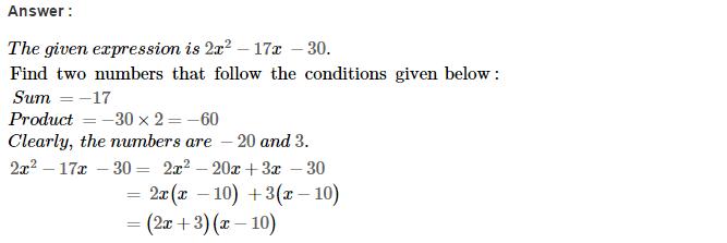 Factorisation RS Aggarwal Class 8 Maths Solutions Ex 7D 34.1