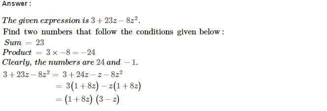 Factorisation RS Aggarwal Class 8 Maths Solutions Ex 7D 37.1