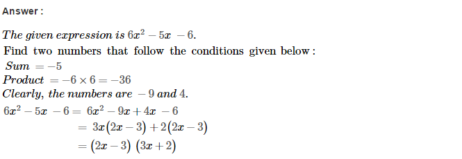 Factorisation RS Aggarwal Class 8 Maths Solutions Ex 7D 38.1