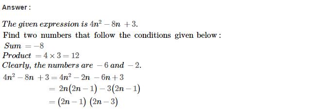 Factorisation RS Aggarwal Class 8 Maths Solutions Ex 7D 40.1