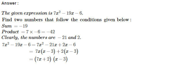 Factorisation RS Aggarwal Class 8 Maths Solutions Ex 7D 42.1