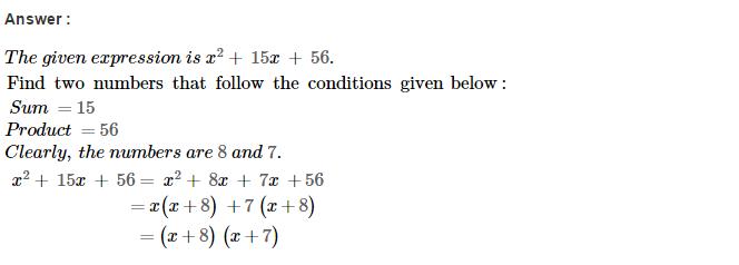 Factorisation RS Aggarwal Class 8 Maths Solutions Ex 7D 5.1