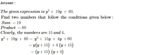 Factorisation RS Aggarwal Class 8 Maths Solutions Ex 7D 6.1
