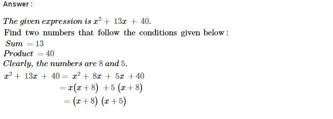 Factorisation RS Aggarwal Class 8 Maths Solutions Ex 7D 7.1