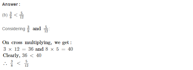 Fraction RS Aggarwal Class 6 Maths Solutions CCE Test Paper 13.1