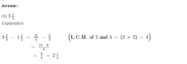 Fraction RS Aggarwal Class 6 Maths Solutions CCE Test Paper 15.1