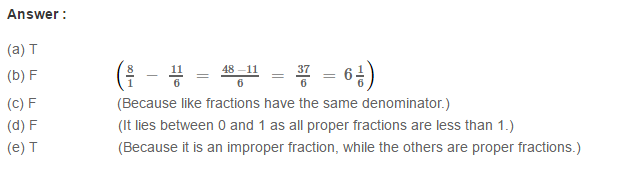 Fraction RS Aggarwal Class 6 Maths Solutions CCE Test Paper 19.1