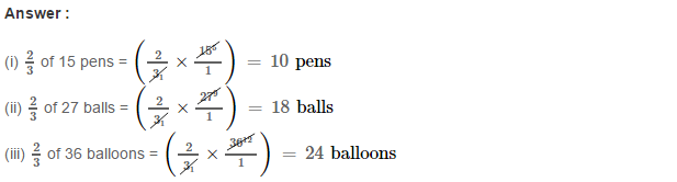 Fraction RS Aggarwal Class 6 Maths Solutions Exercise 5A 10.1