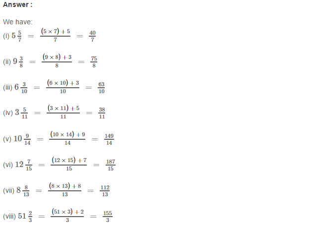 Fraction RS Aggarwal Class 6 Maths Solutions Exercise 5B 5.1