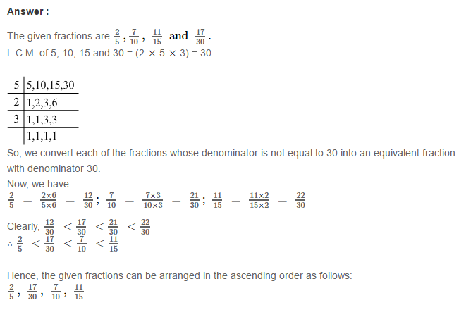 Fraction RS Aggarwal Class 6 Maths Solutions Exercise 5D 20.1