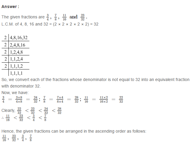 Fraction RS Aggarwal Class 6 Maths Solutions Exercise 5D 21.1