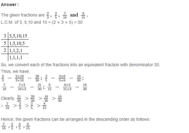 Fraction RS Aggarwal Class 6 Maths Solutions Exercise 5D 24.1