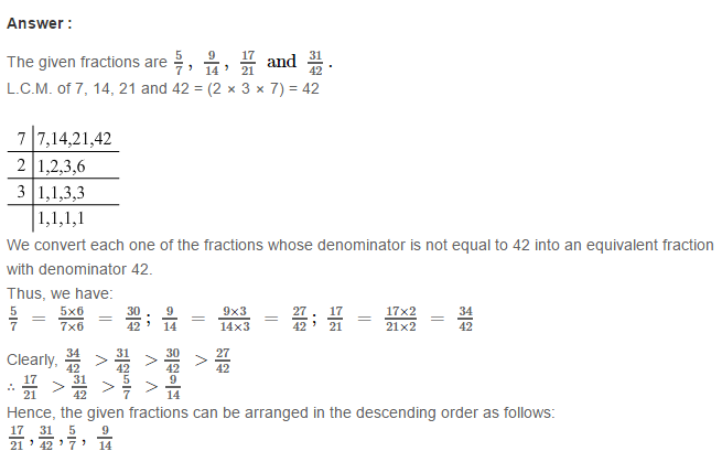 Fraction RS Aggarwal Class 6 Maths Solutions Exercise 5D 25.1
