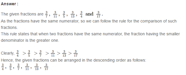 Fraction RS Aggarwal Class 6 Maths Solutions Exercise 5D 27.1
