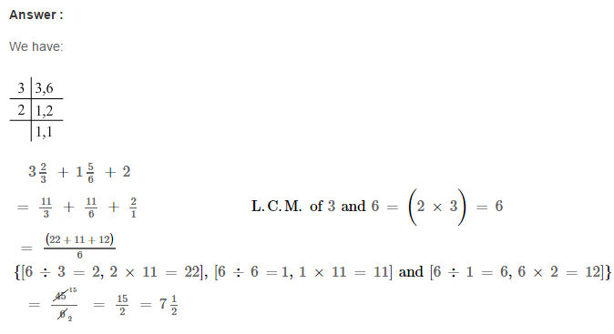Fraction RS Aggarwal Class 6 Maths Solutions Exercise 5E 10.1