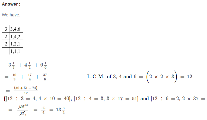 Fraction RS Aggarwal Class 6 Maths Solutions Exercise 5E 12.1