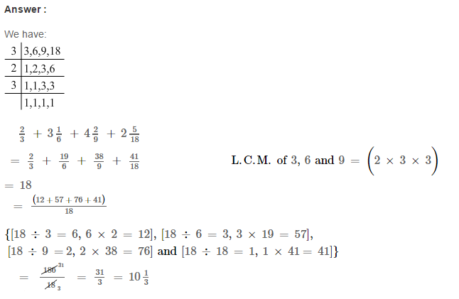 Fraction RS Aggarwal Class 6 Maths Solutions Exercise 5E 13.1