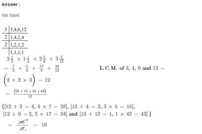 Fraction RS Aggarwal Class 6 Maths Solutions Exercise 5E 14.1