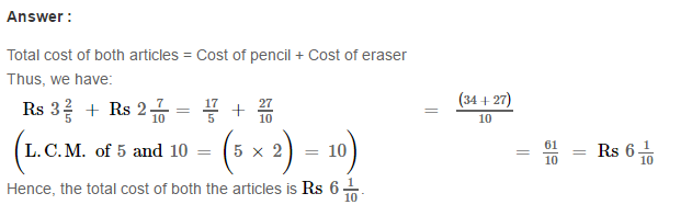 Fraction RS Aggarwal Class 6 Maths Solutions Exercise 5E 16.1