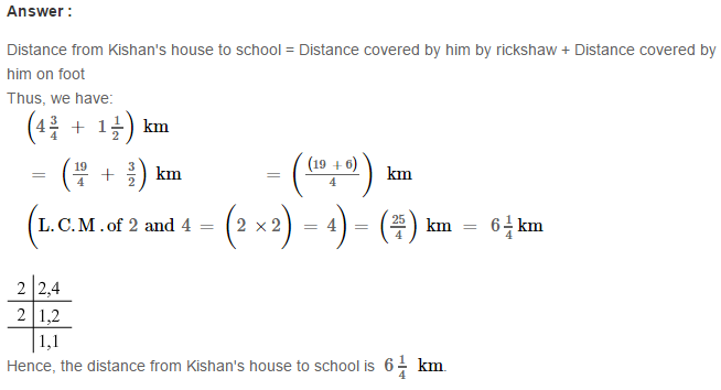Fraction RS Aggarwal Class 6 Maths Solutions Exercise 5E 18.1