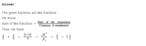 Fraction RS Aggarwal Class 6 Maths Solutions Exercise 5E 2.1