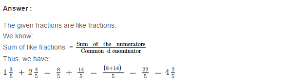 Fraction RS Aggarwal Class 6 Maths Solutions Exercise 5E 3.1
