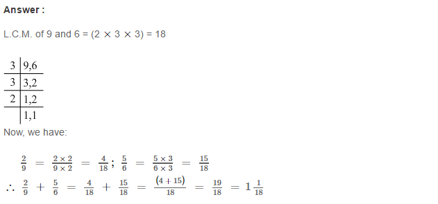 Fraction RS Aggarwal Class 6 Maths Solutions Exercise 5E 4.1