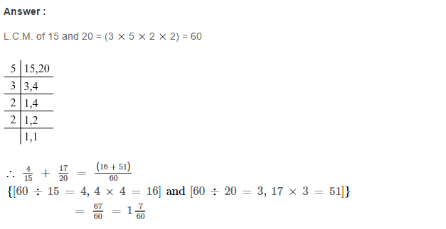 Fraction RS Aggarwal Class 6 Maths Solutions Exercise 5E 6.1