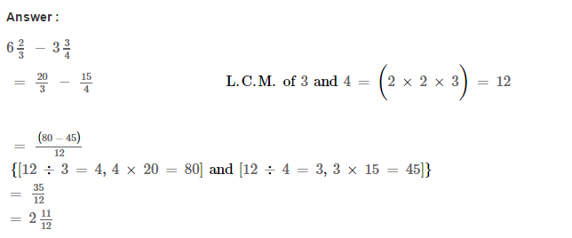 Fraction RS Aggarwal Class 6 Maths Solutions Exercise 5F 10.1