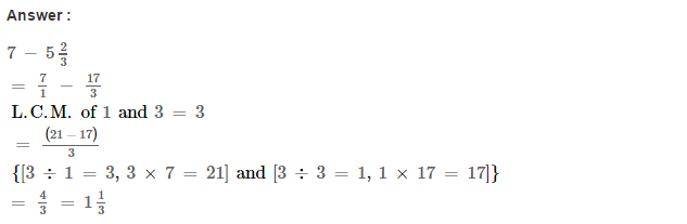 Fraction RS Aggarwal Class 6 Maths Solutions Exercise 5F 11.1