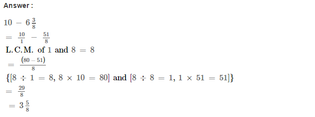 Fraction RS Aggarwal Class 6 Maths Solutions Exercise 5F 12.1