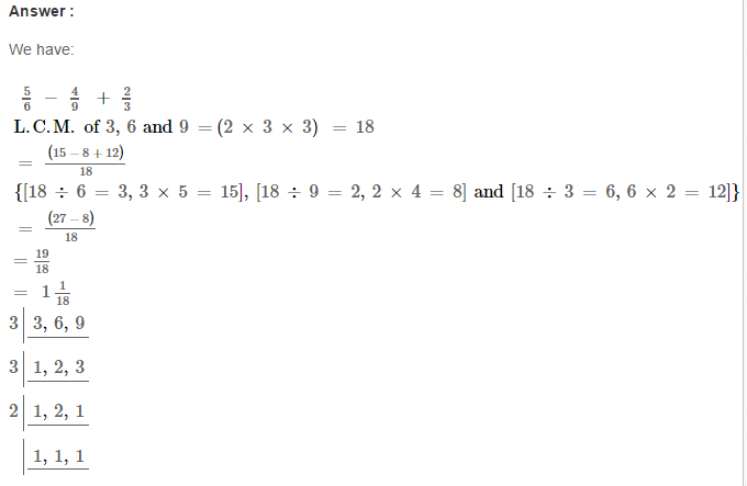 Fraction RS Aggarwal Class 6 Maths Solutions Exercise 5F 13.1