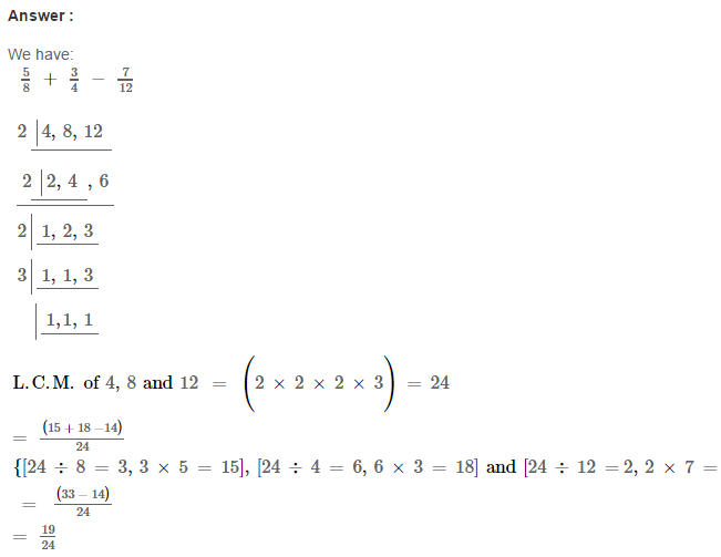 Fraction RS Aggarwal Class 6 Maths Solutions Exercise 5F 14.1