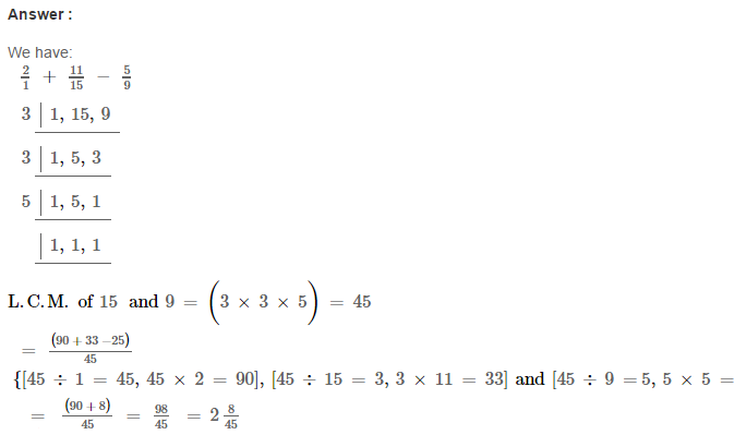 Fraction RS Aggarwal Class 6 Maths Solutions Exercise 5F 15.1